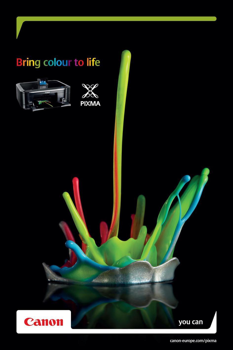 Canon Print Ad -  Colour sculptures, 1