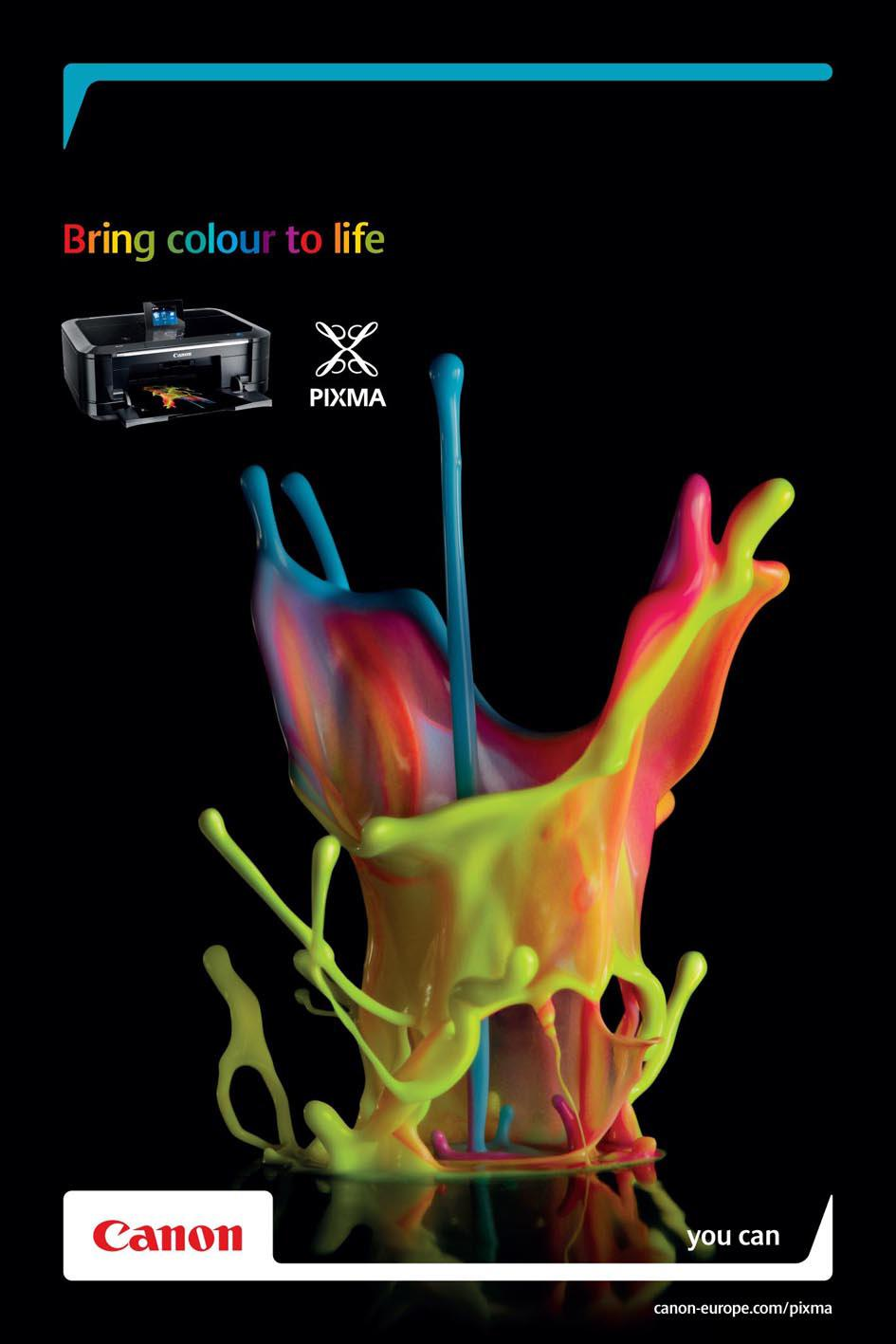 Canon Print Ad -  Colour sculptures, 2