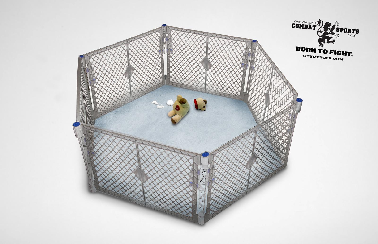 Guy Mezger Combat Sports Club Print Ad -  Cage