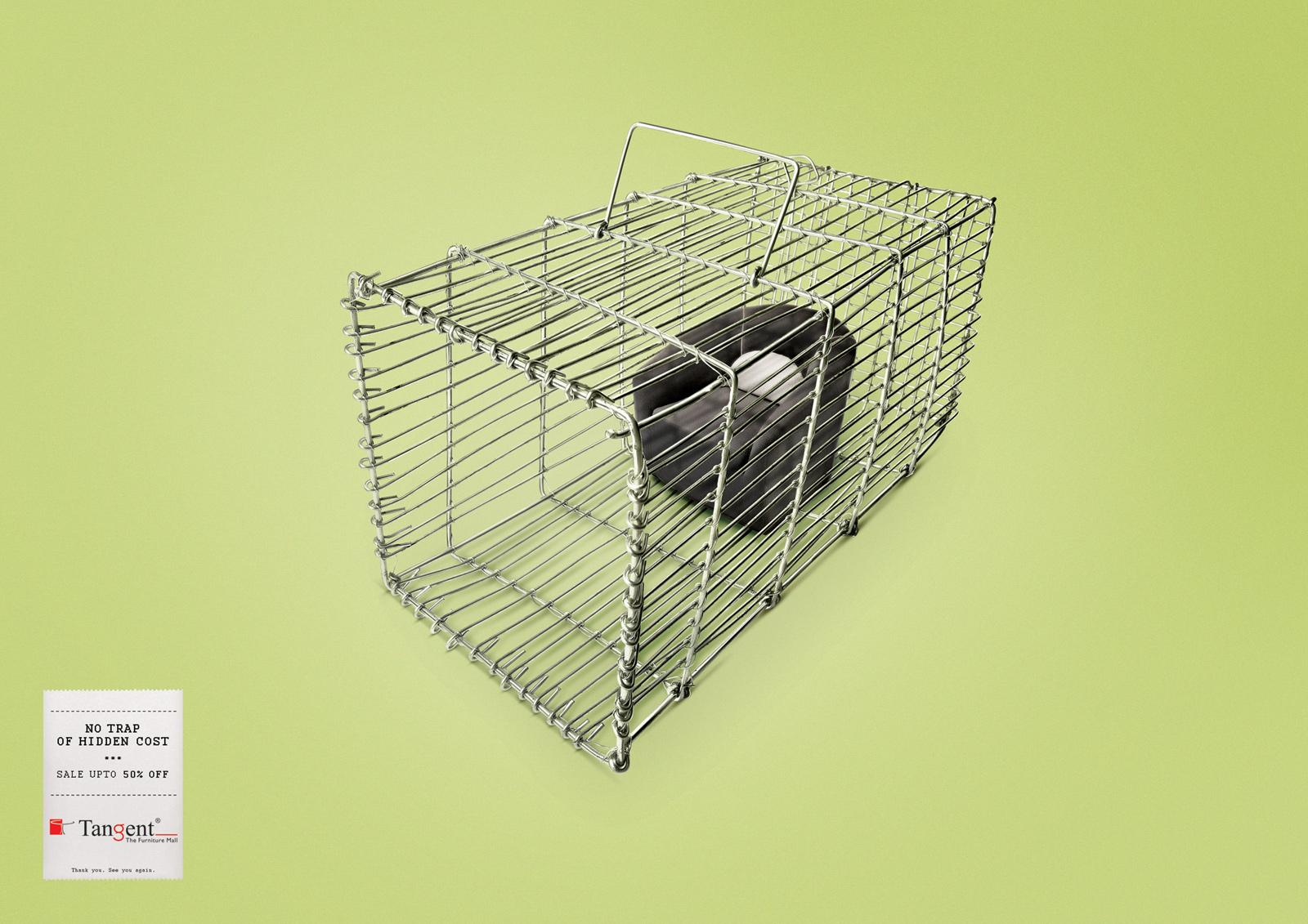 Tangent Furniture Print Ad -  Cage
