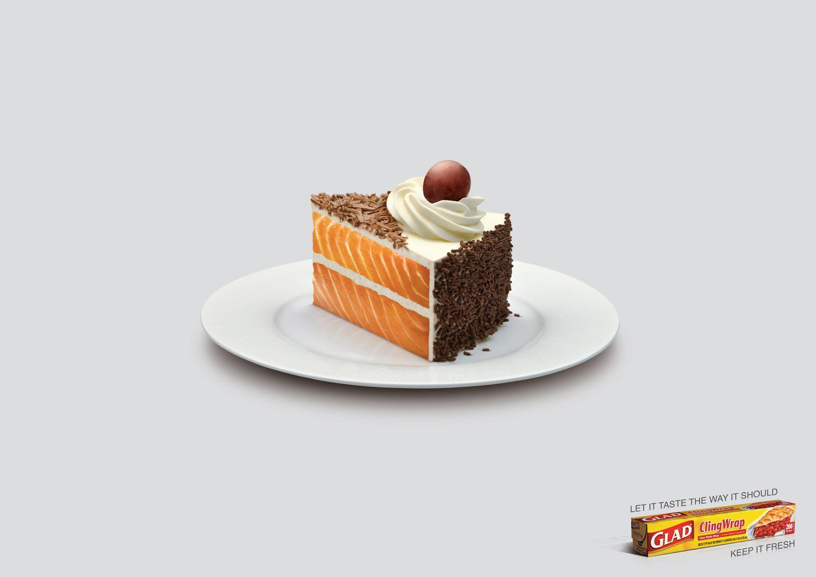 Glad Print Ad -  Cake