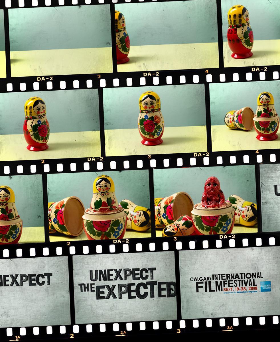 Calgary International Film Festival Print Ad -  Russian doll