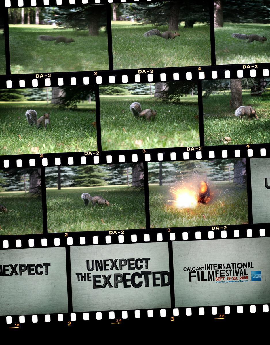 Calgary International Film Festival Print Ad -  Sqirrel