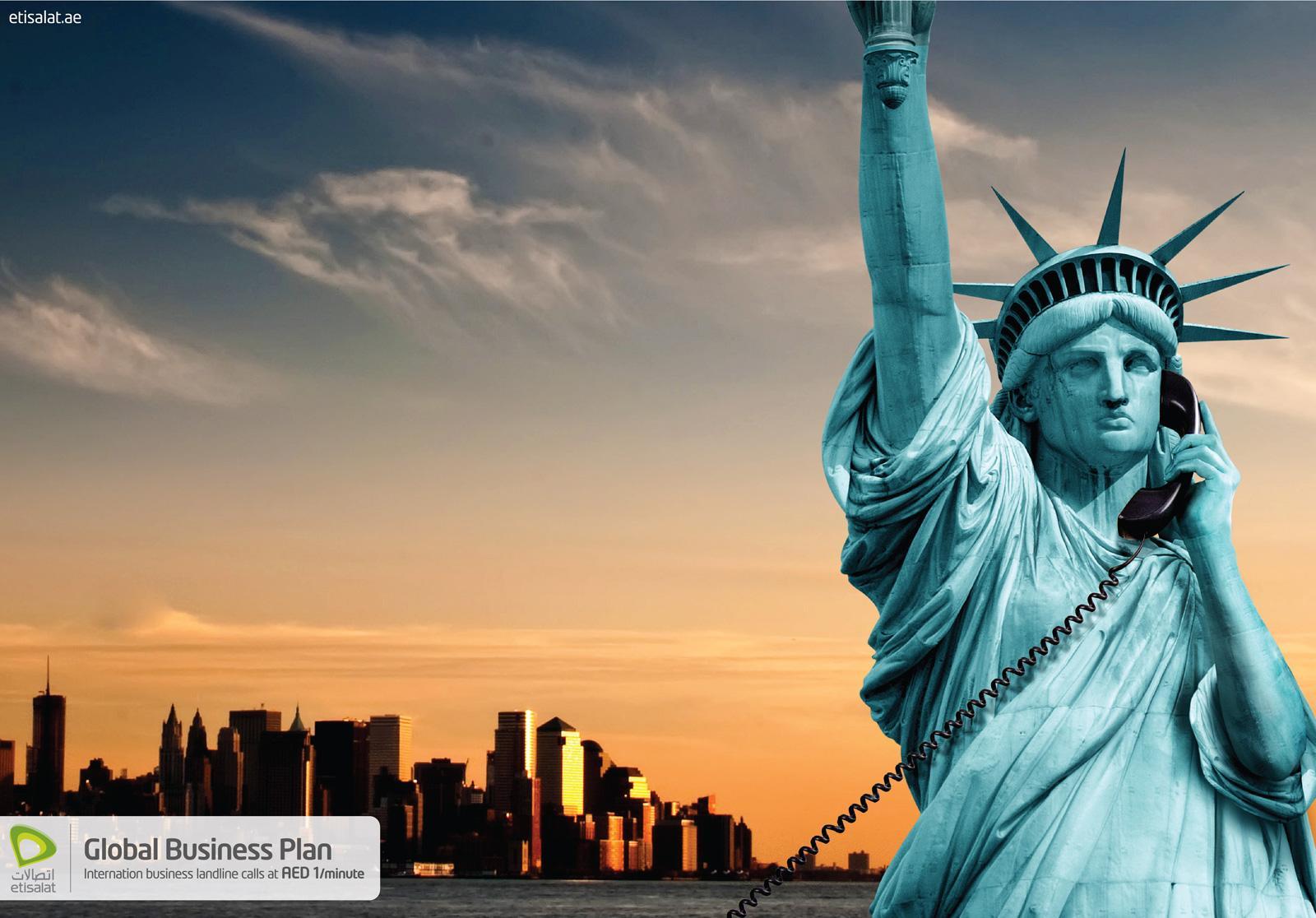 Etisalat Print Ad -  Calling USA