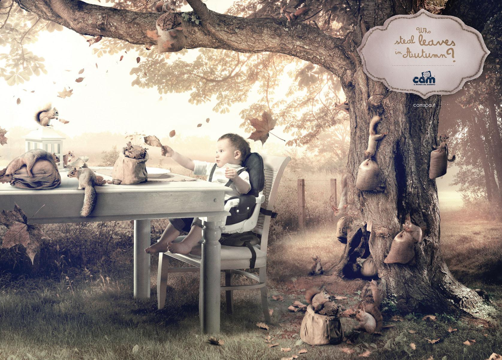 Cam Print Ad -  The Child's world, Leaves
