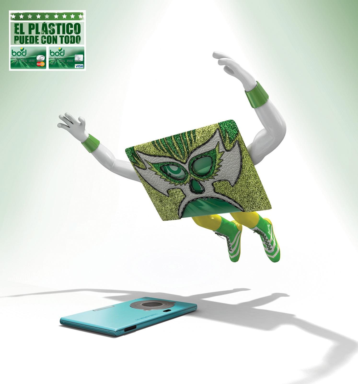 Banco Occidental De Descuento Print Ad -  Wrestlers, Camera