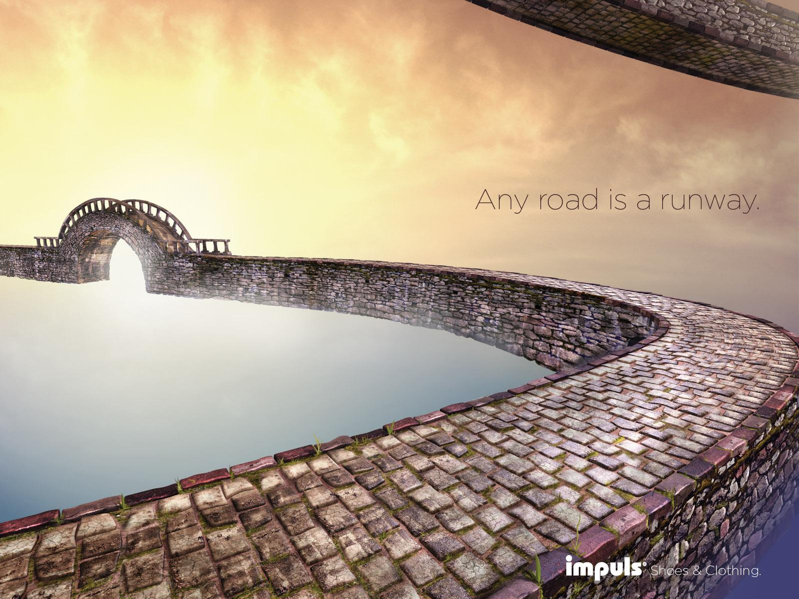 Impuls Print Ad -  Any Road is a Runway, Bridge