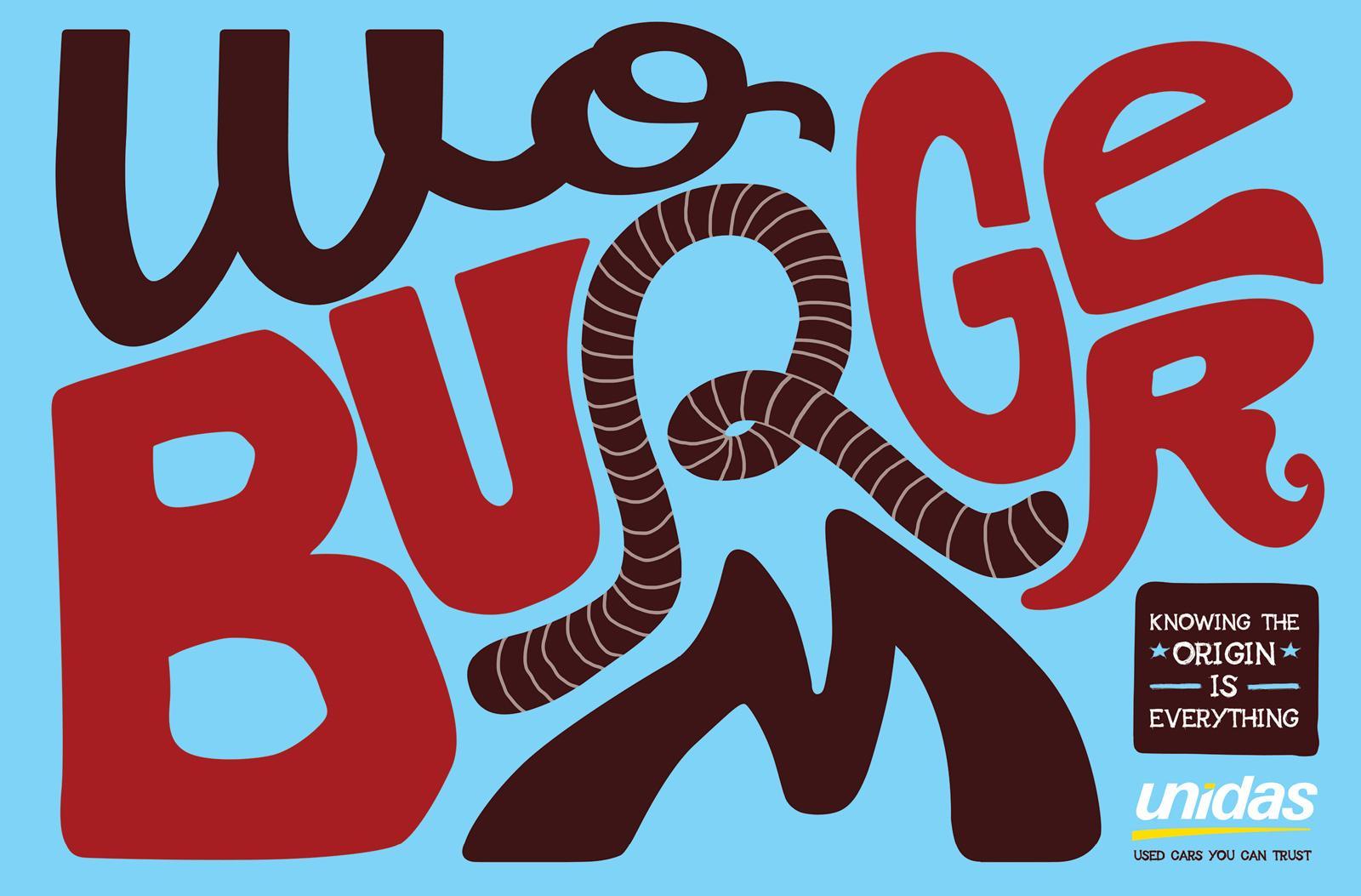 Unidas Print Ad -  Worm Burger