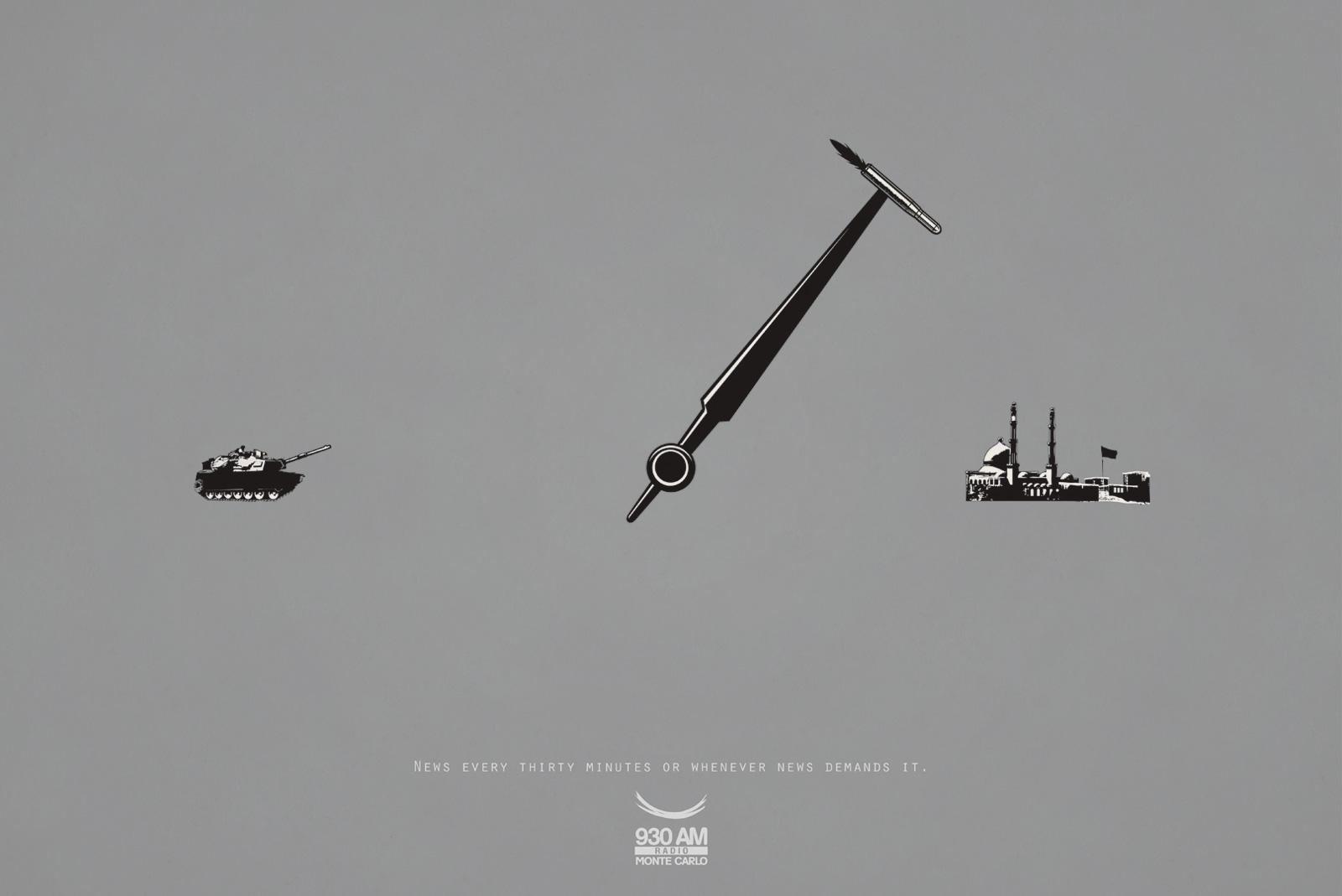 Monte Carlo Radio Print Ad -  Missile