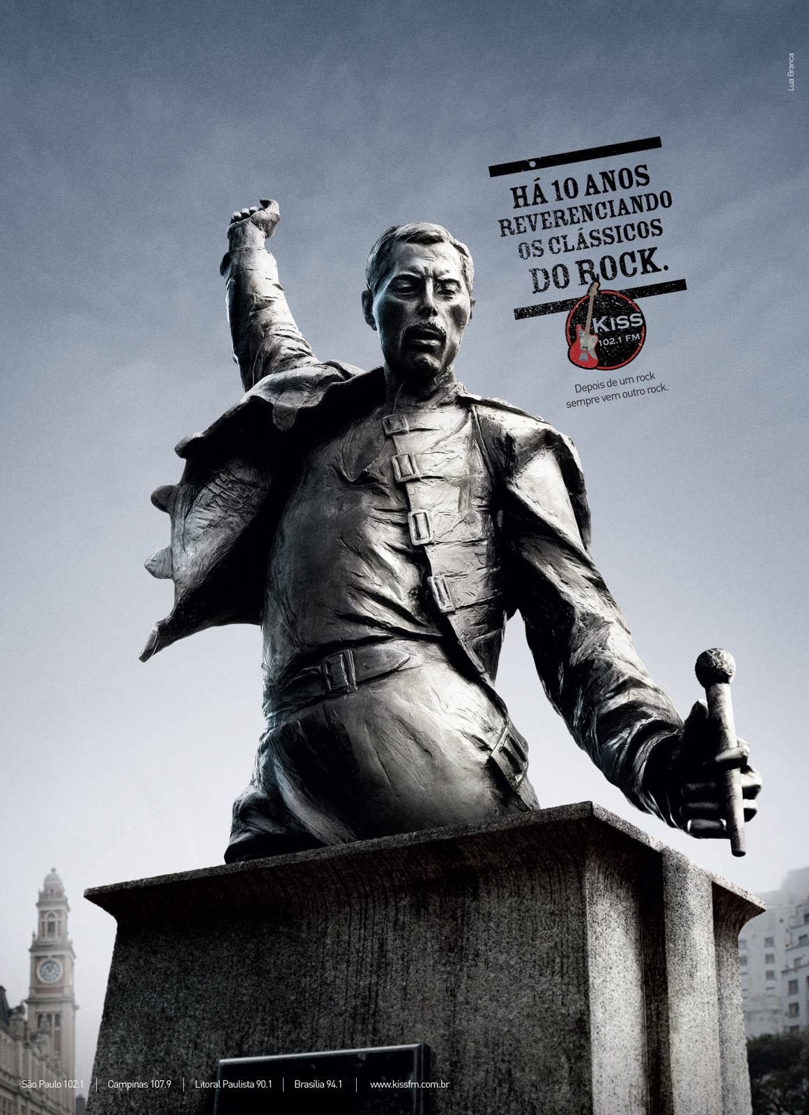 KISS FM Print Ad -  Monuments, 3