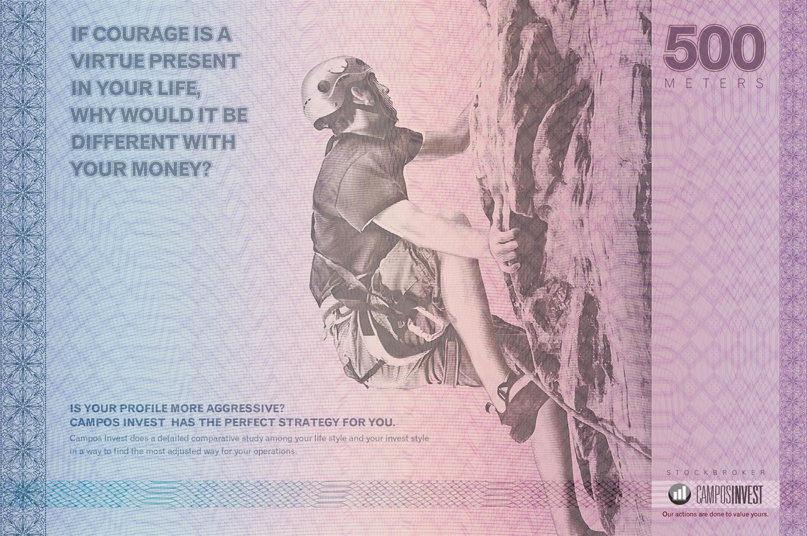 Campos Invest Print Ad -  Climber