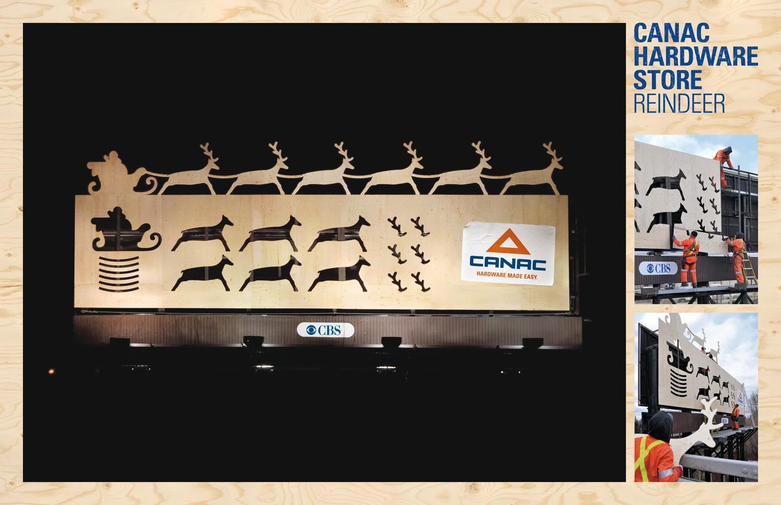Canac Outdoor Ad -  Reindeer