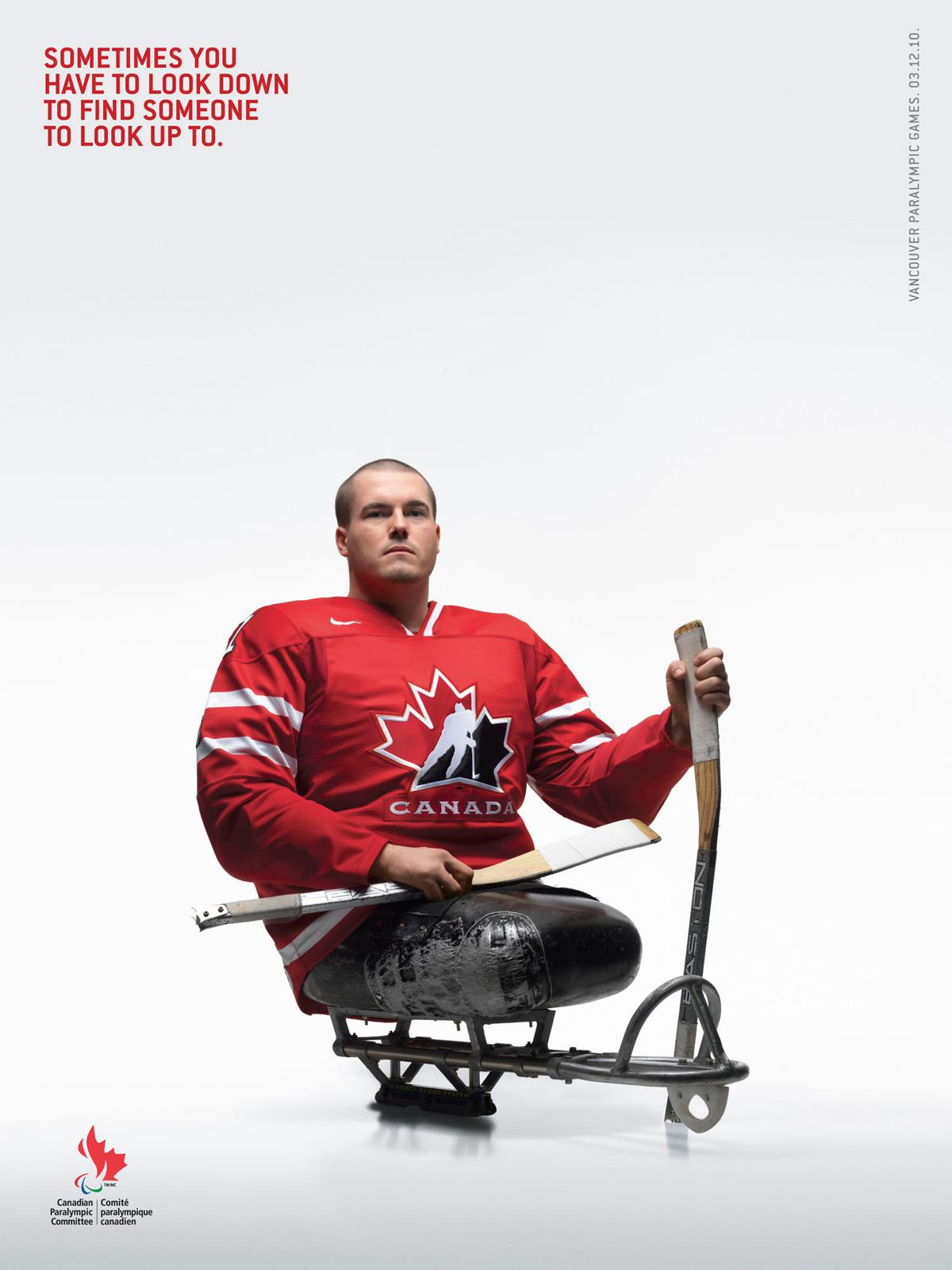 Canadian Paralympics Committee Print Ad -  Sledge Hockey