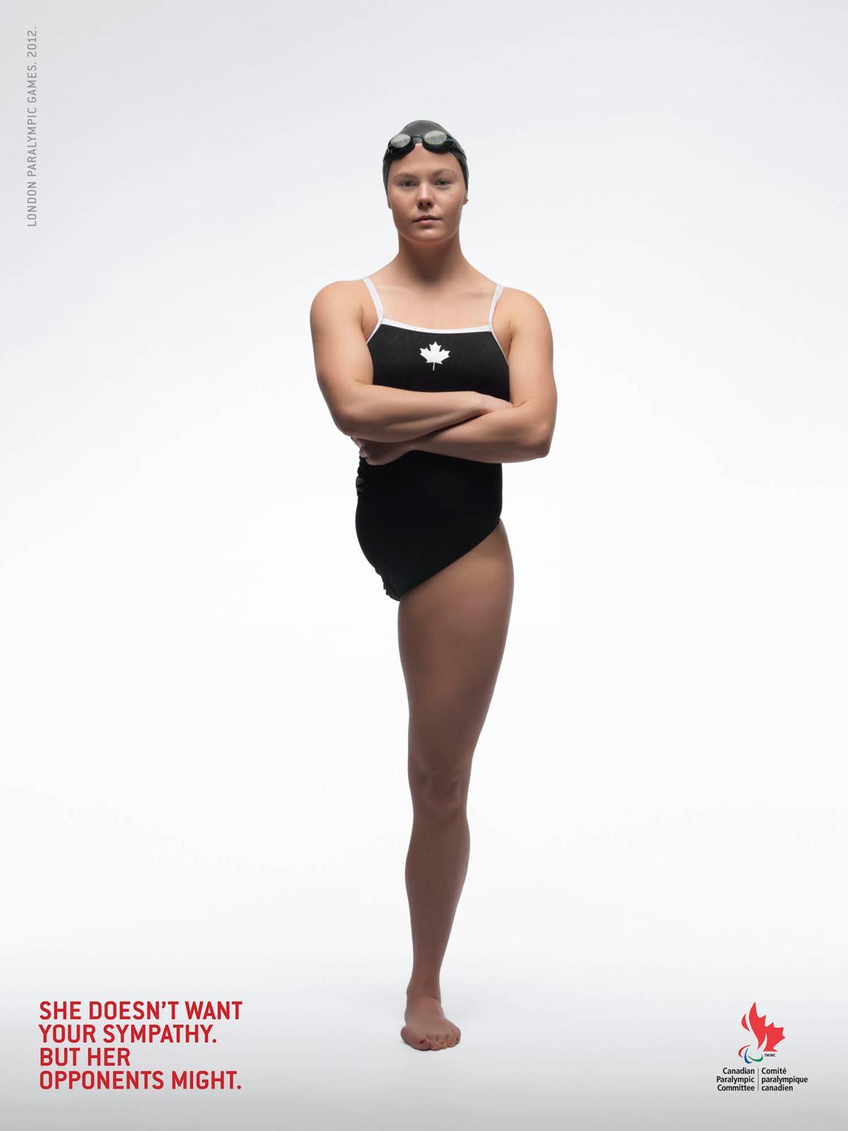 Canadian Paralympics Committee Print Ad -  Swim