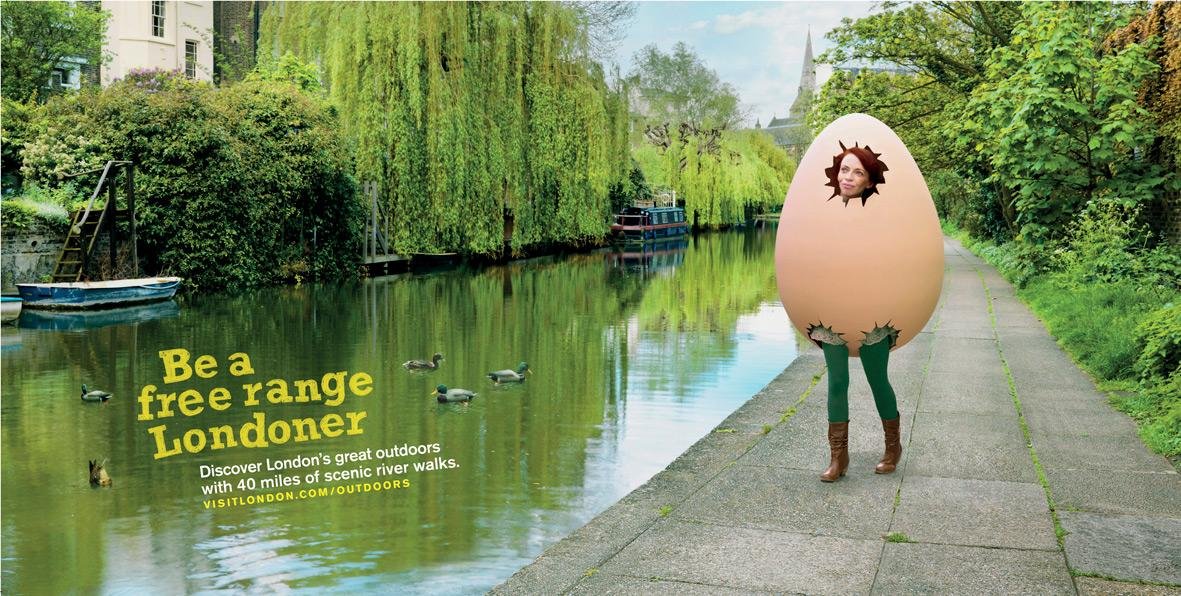 London's Great Outdoors Print Ad -  Canal