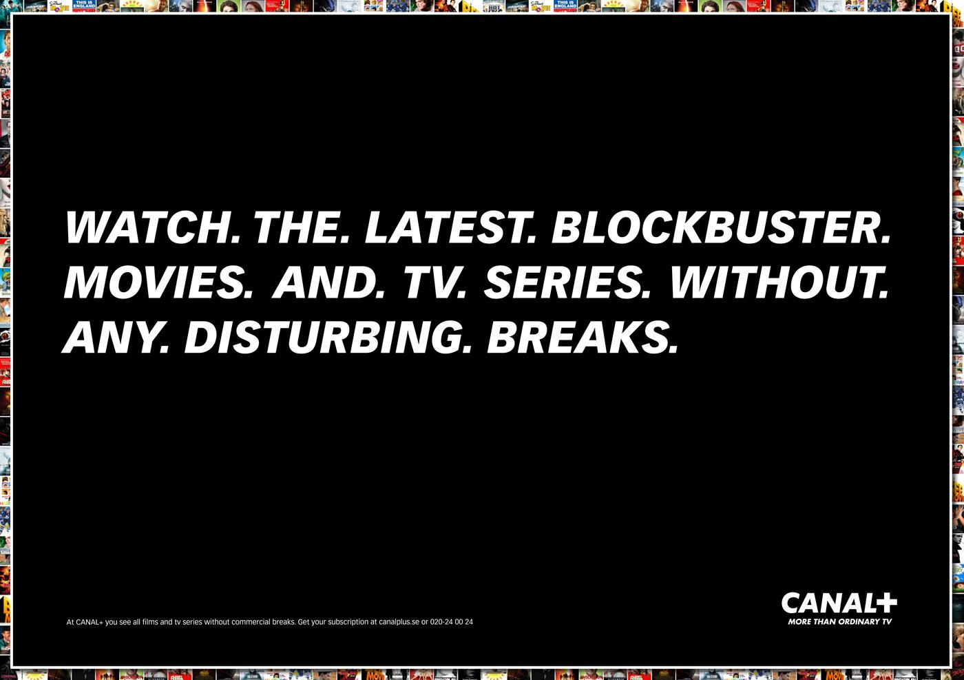 Canal+ Print Ad -  No disturbing breaks, 2