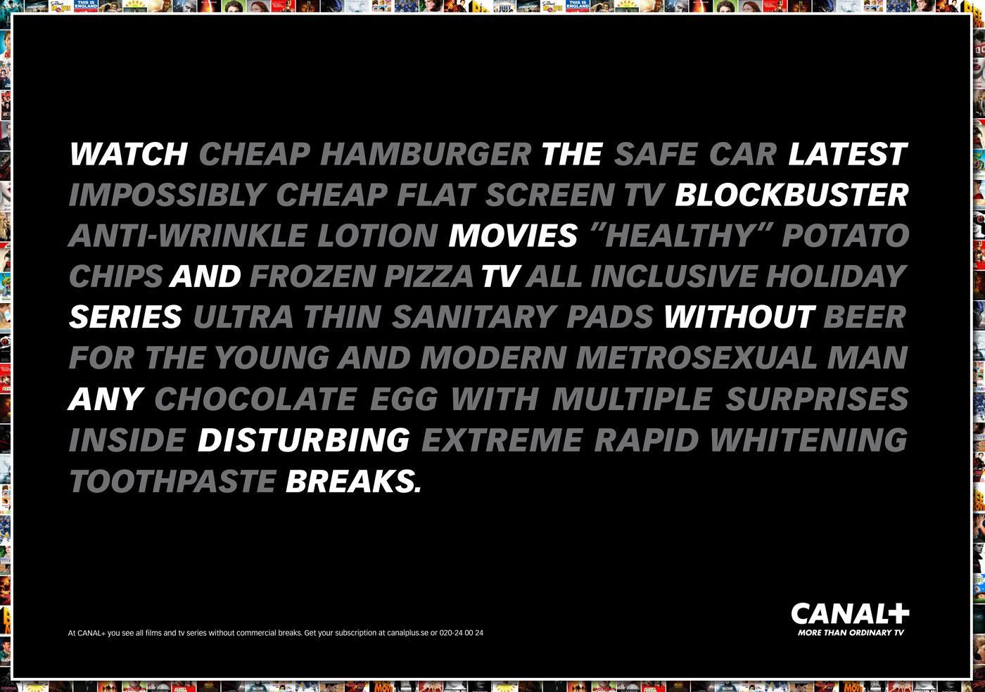 Canal+ Print Ad -  No disturbing breaks, 1