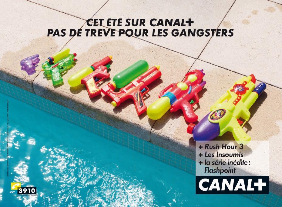 Canal+ Print Ad -  Guns