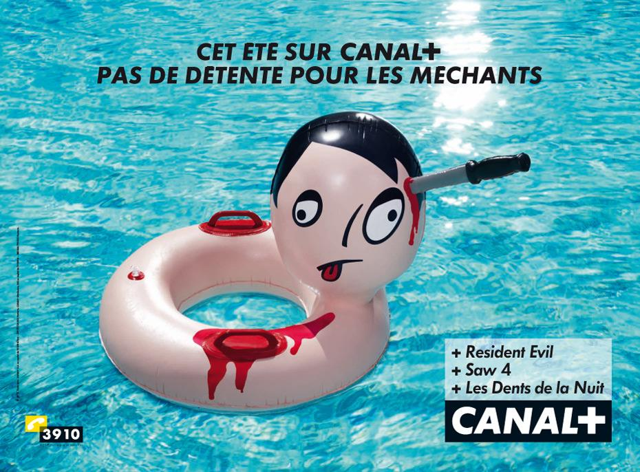 Canal+ Print Ad -  Knife