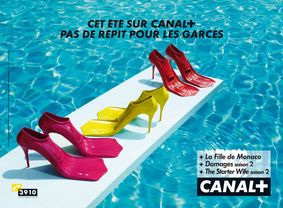Canal+ Print Ad -  Shoes