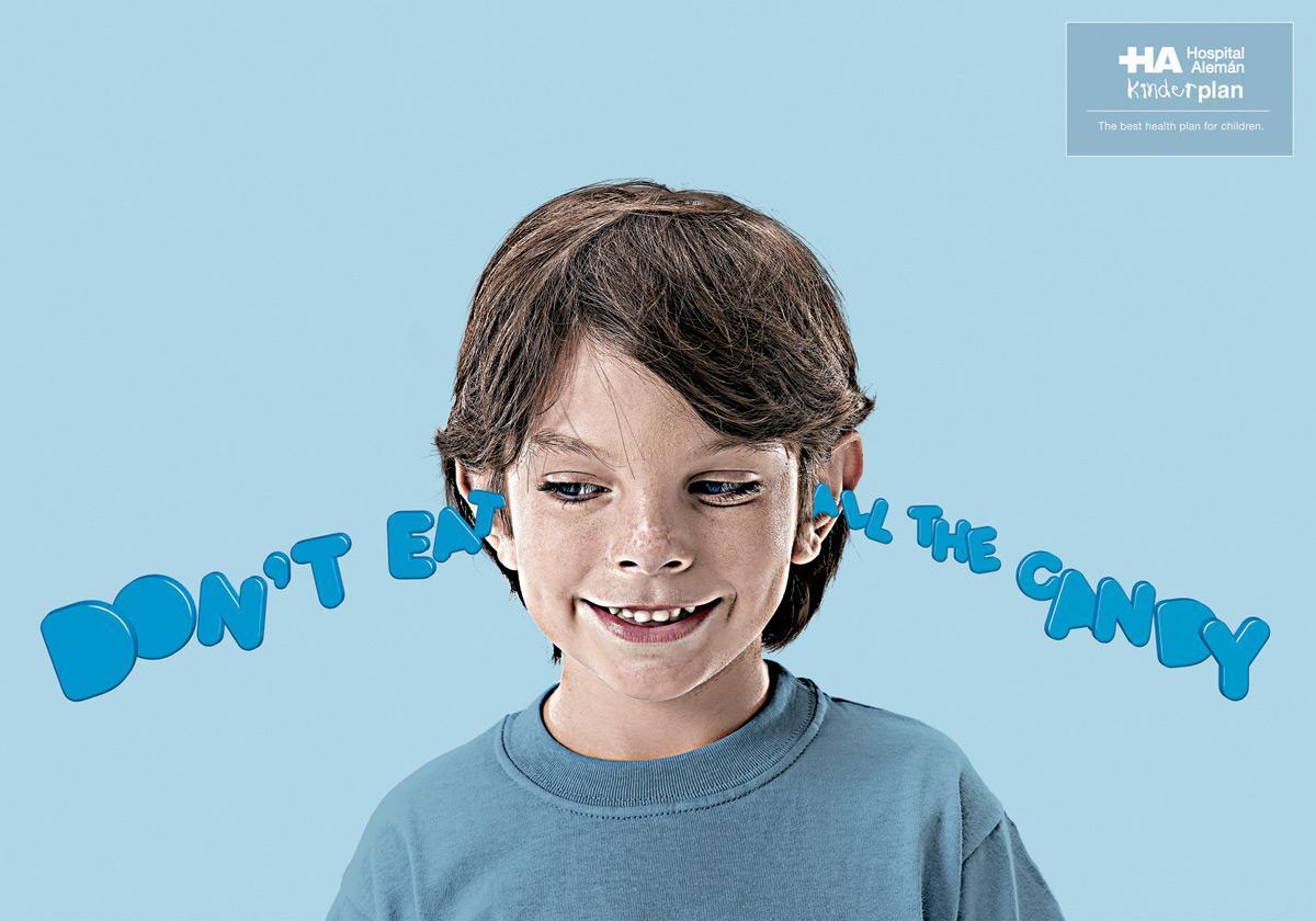 Hospital Aleman Print Ad -  Ears, Candy