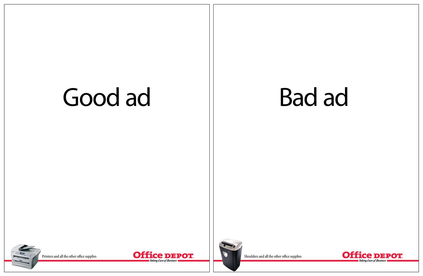 Office Depot Print Ad -  Good ad, Bad ad