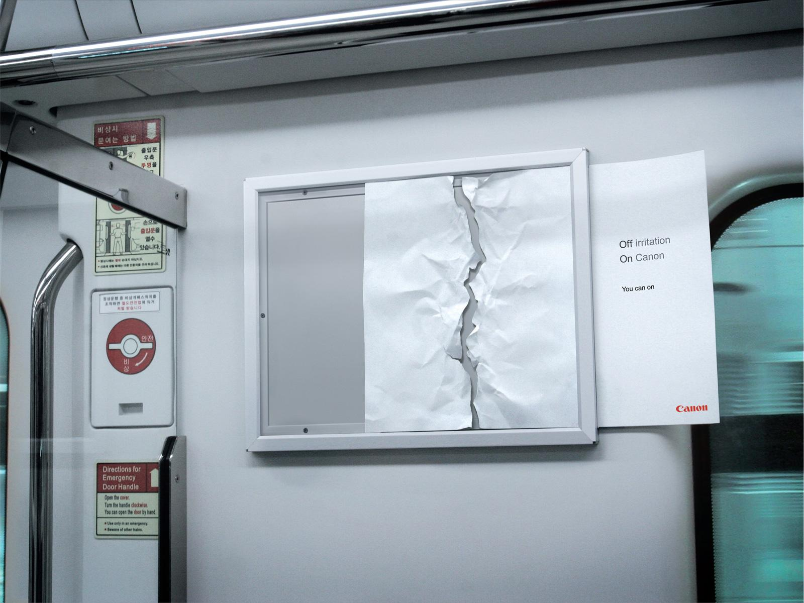 Canon Outdoor Ad -  Irritation