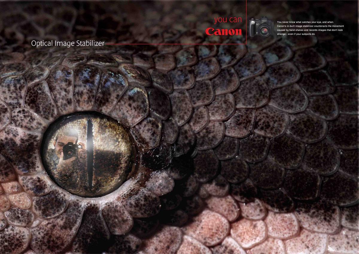 Canon Print Ad -  Snake