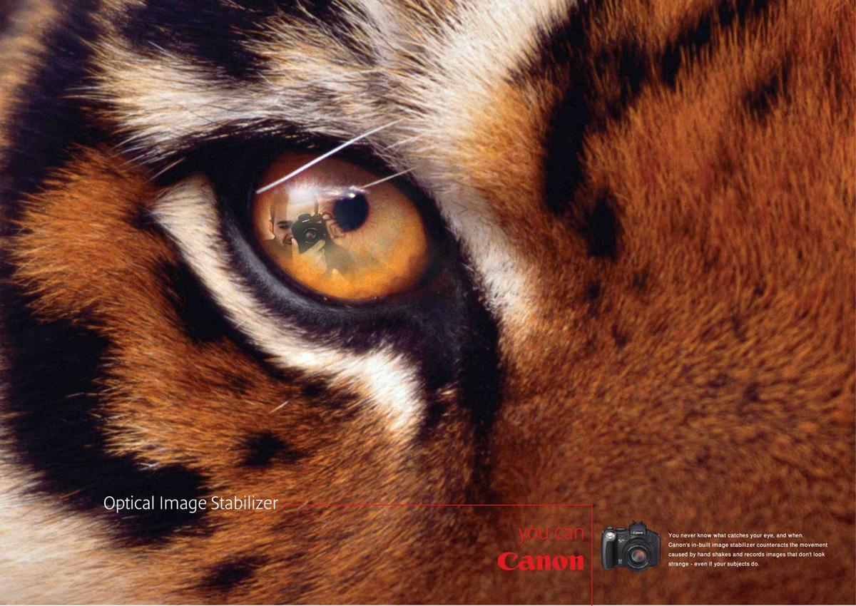 Canon Print Ad -  Tiger