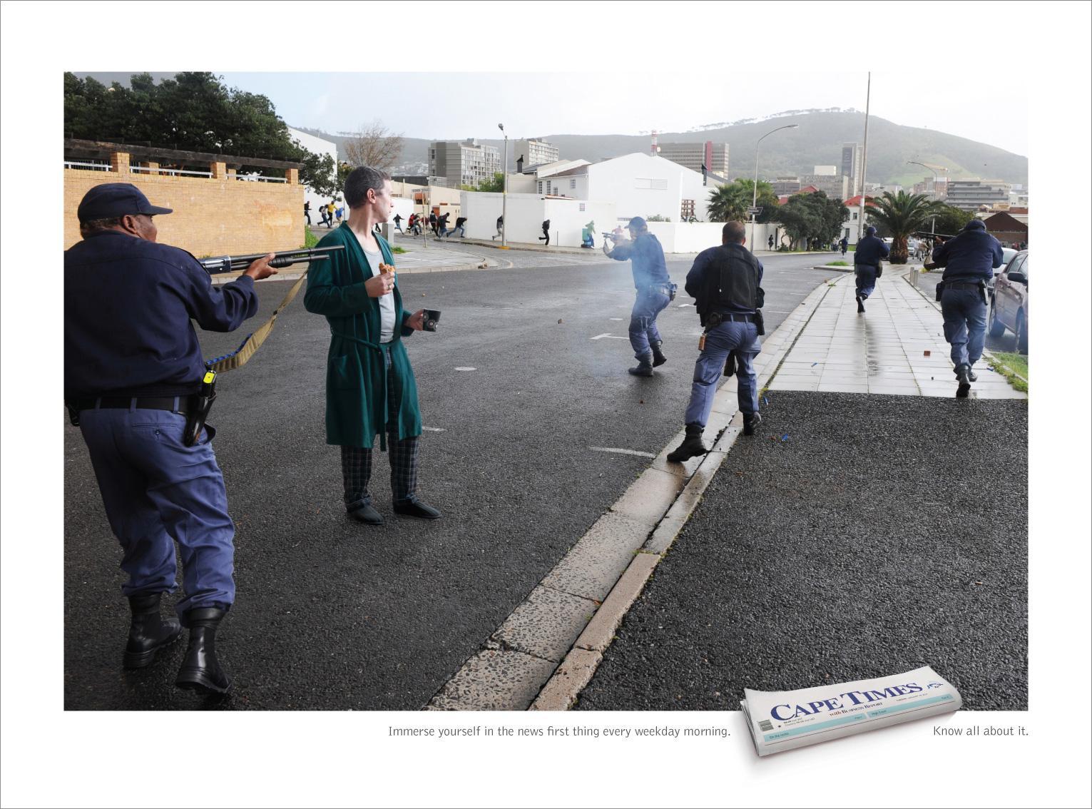 Cape Times Print Ad -  Police