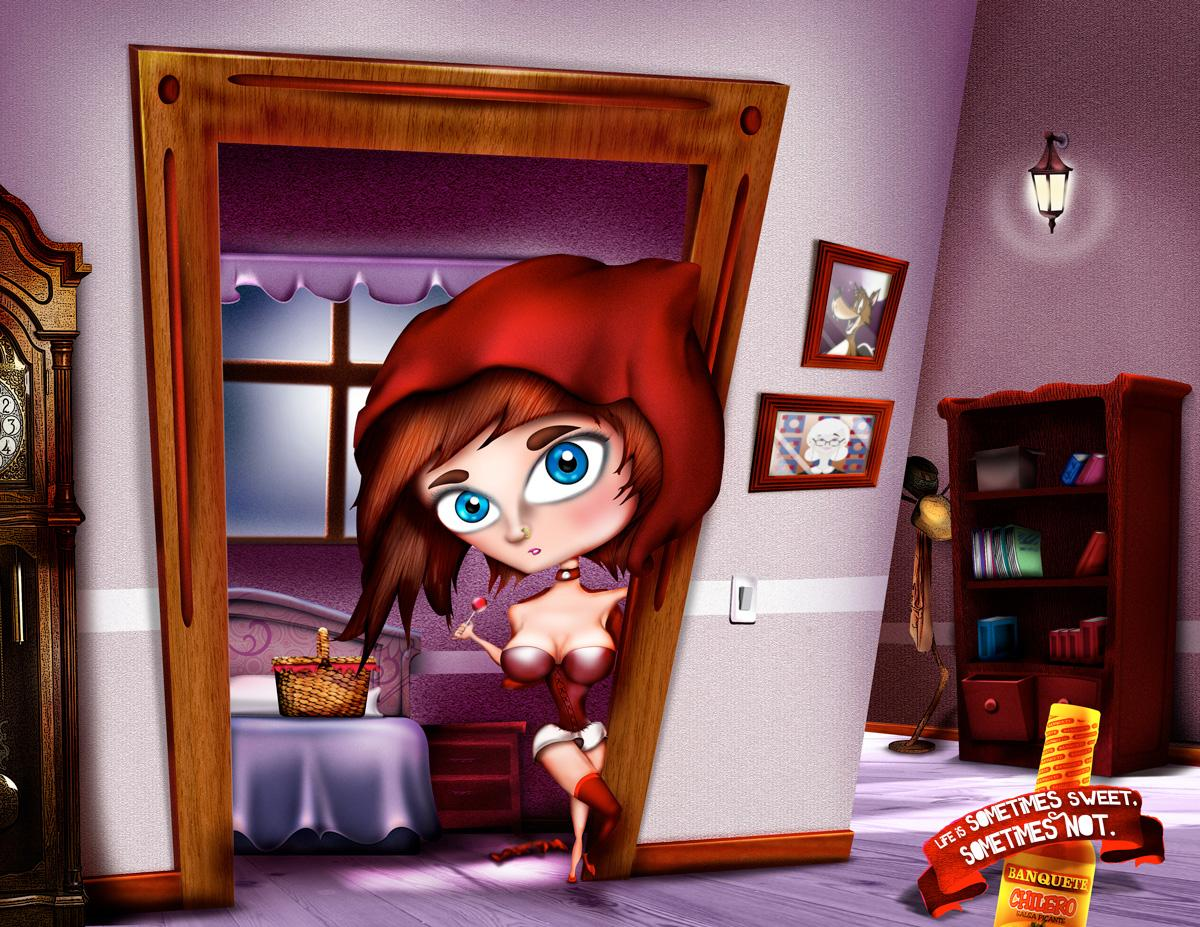 Banquete Print Ad -  Little red riding hood