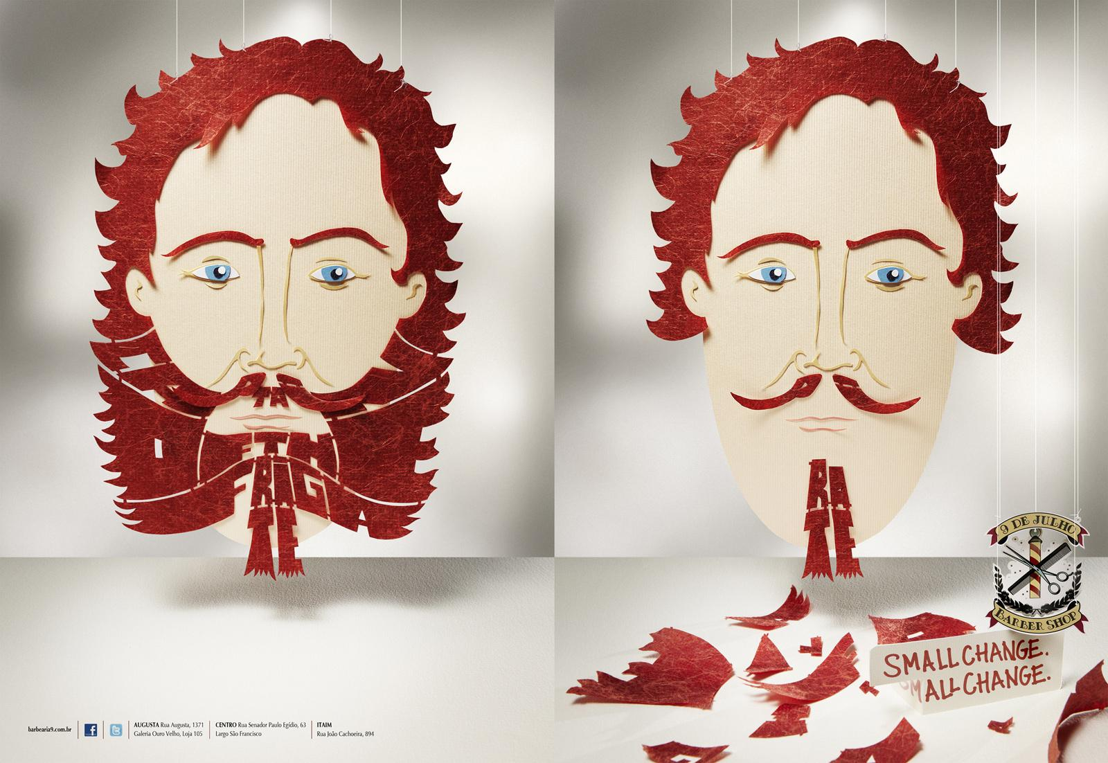 9 de Julho Print Ad -  Beards, Capitain of the Frigate/Pirate