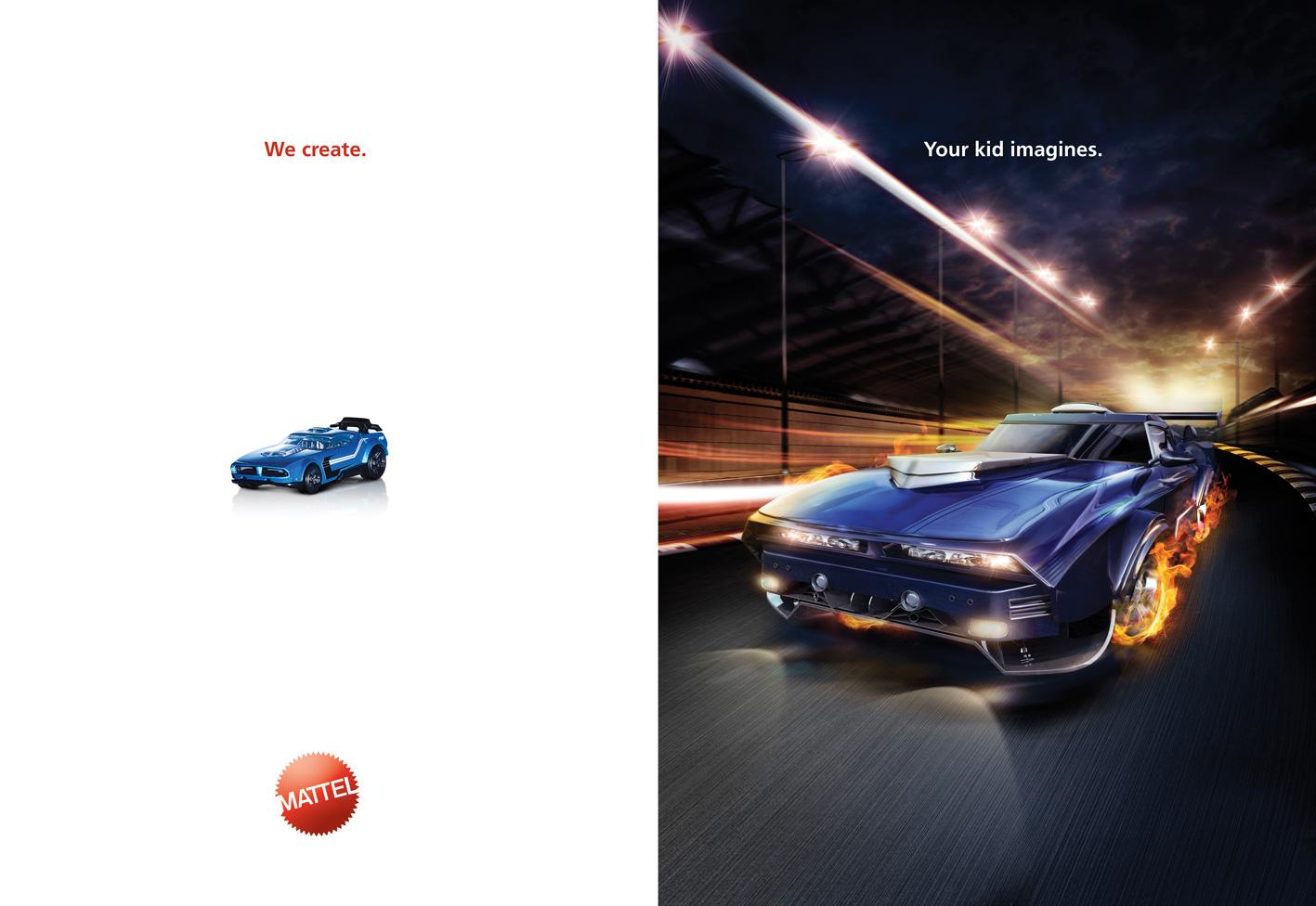 Mattel Print Ad -  Car