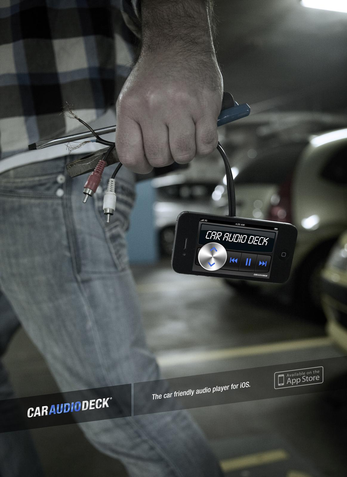 Car Audio Deck Print Ad -  Smash and grab