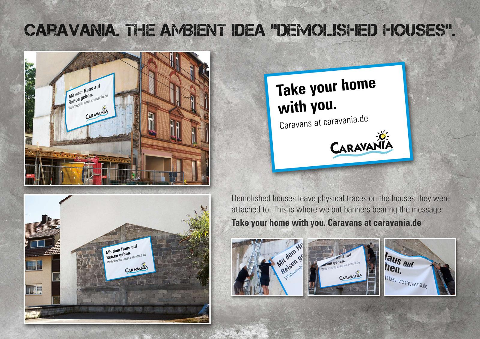 Caravania Outdoor Ad -  Demolished houses