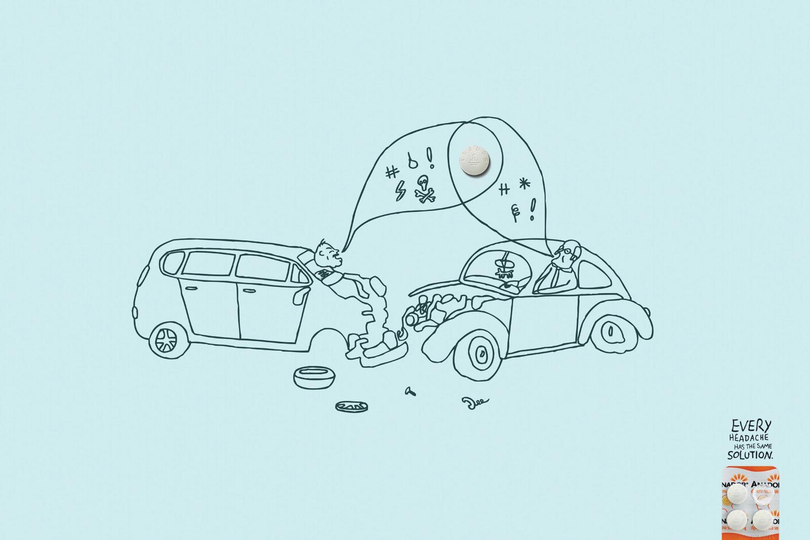 Anador Print Ad -  Car Crash