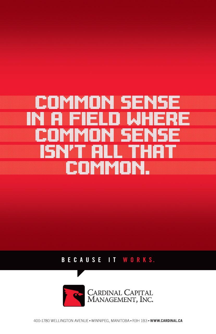 Cardinal Capital Management Print Ad -  Common Sense