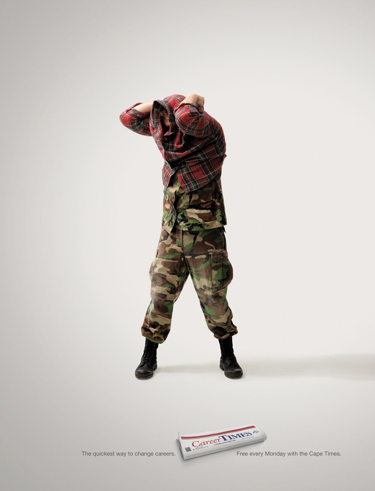 Career Times Print Ad -  Army Man