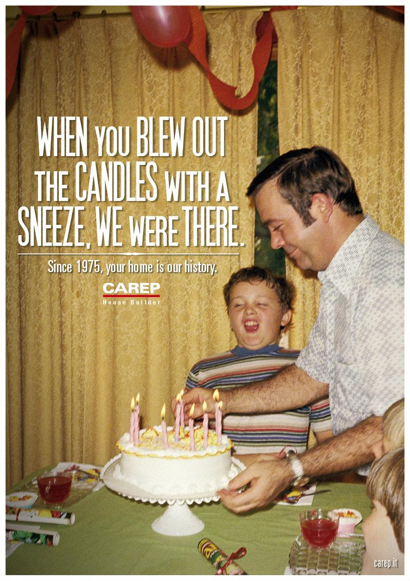 Carep Costruzioni Print Ad -  We Were There, Candles
