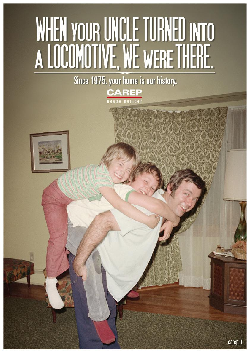 Carep Costruzioni Print Ad -  We Were There, Locomotive
