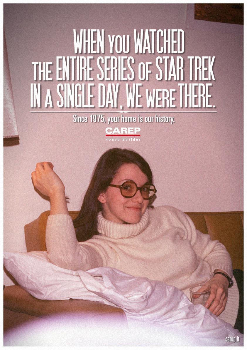 Carep Costruzioni Print Ad -  We Were There, Star Trek