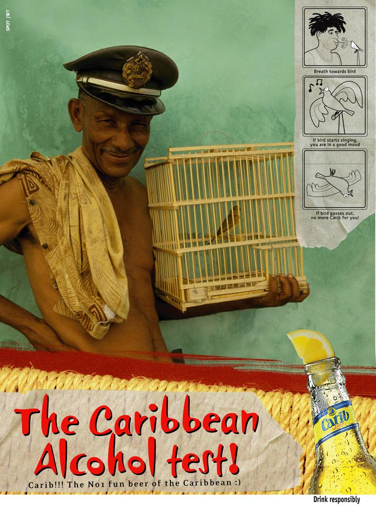 Carib Beer Print Ad -  Bird