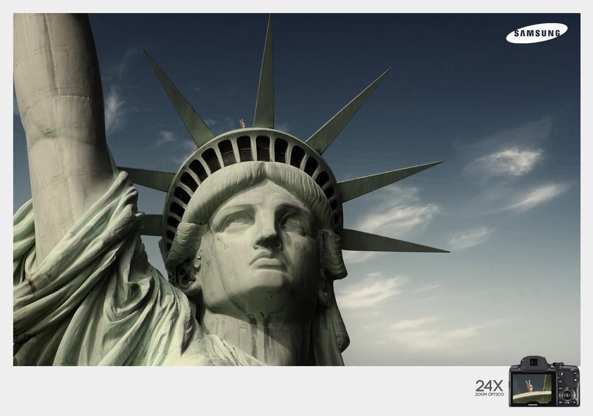 Samsung Print Ad -  Statue of Liberty