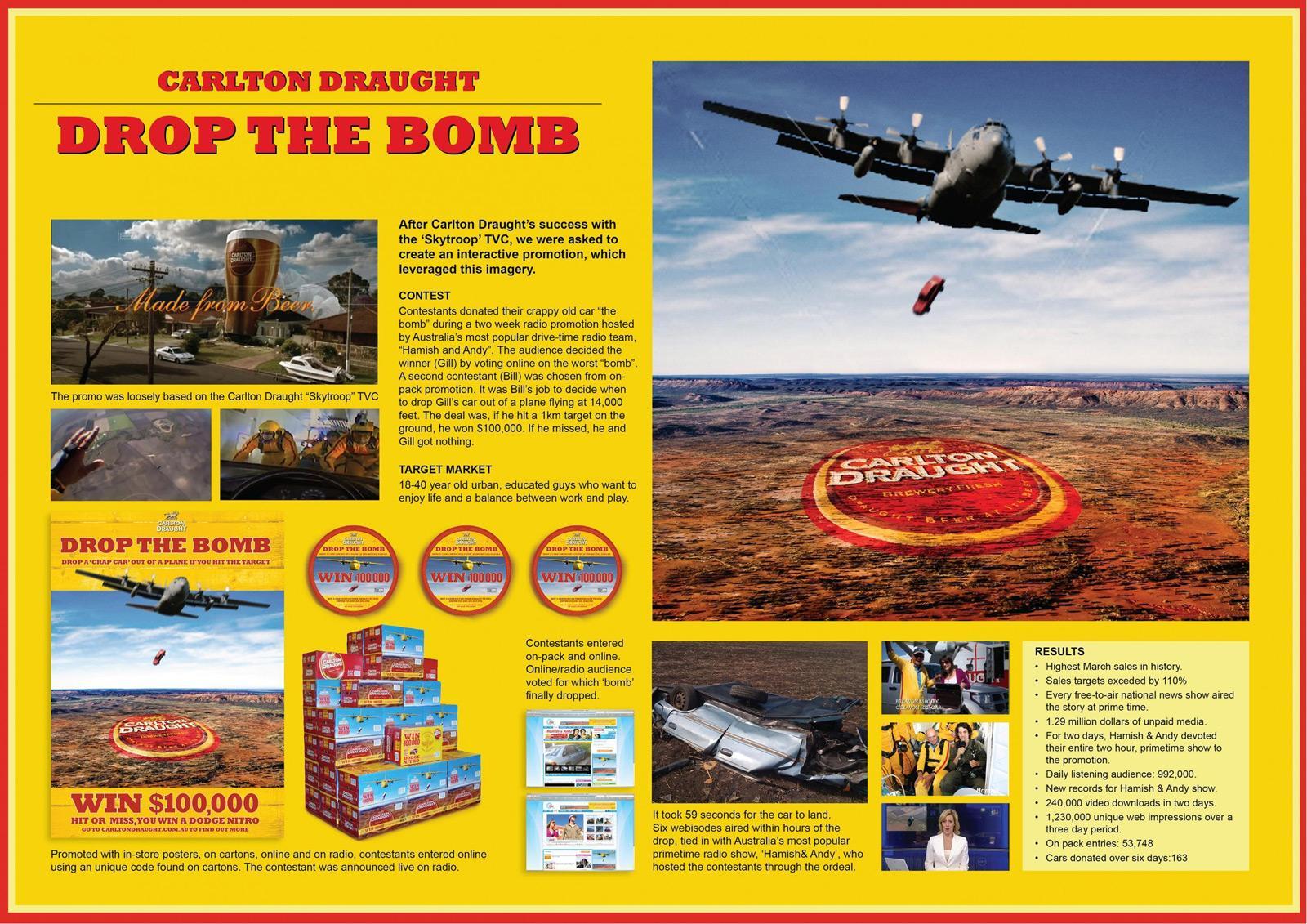 Carlton Ambient Ad -  Bomb