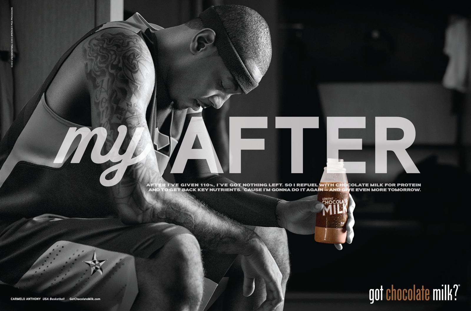 Chocolate Milk Print Ad -  Carmelo