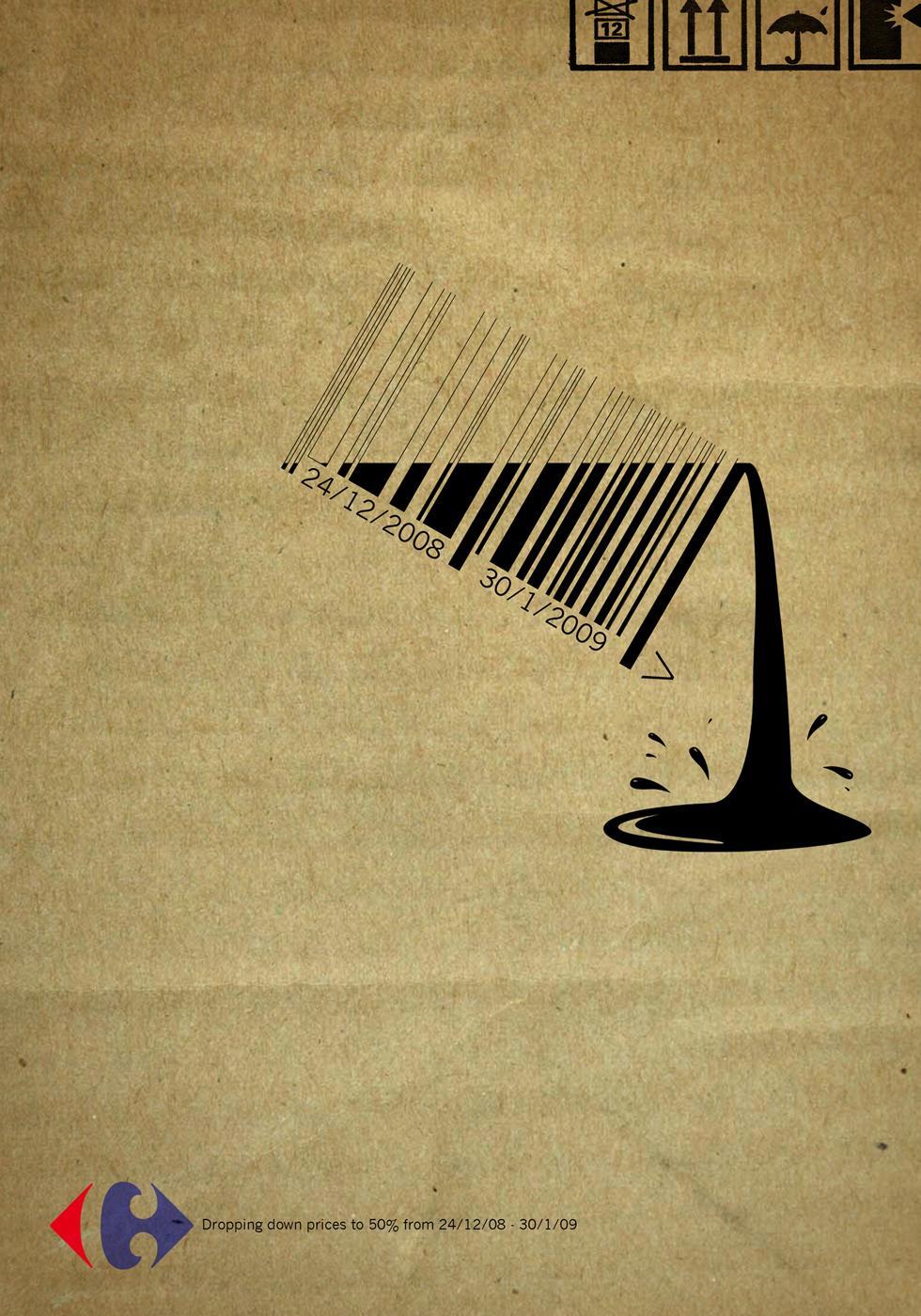 Carrefour Print Ad -  Bar code, 1
