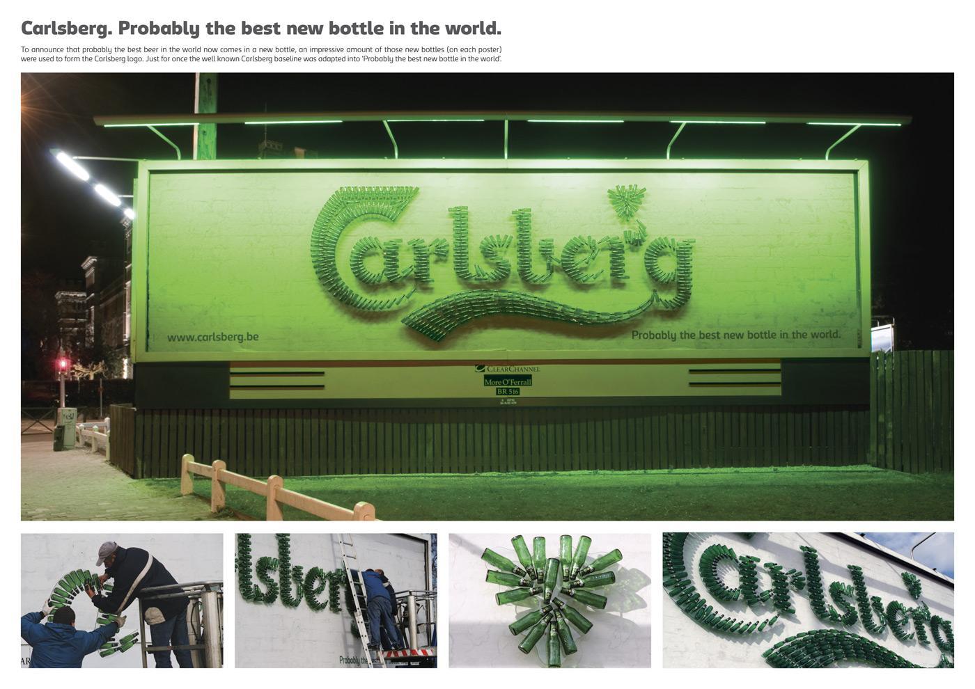 Carlsberg Ambient Ad -  Bottles