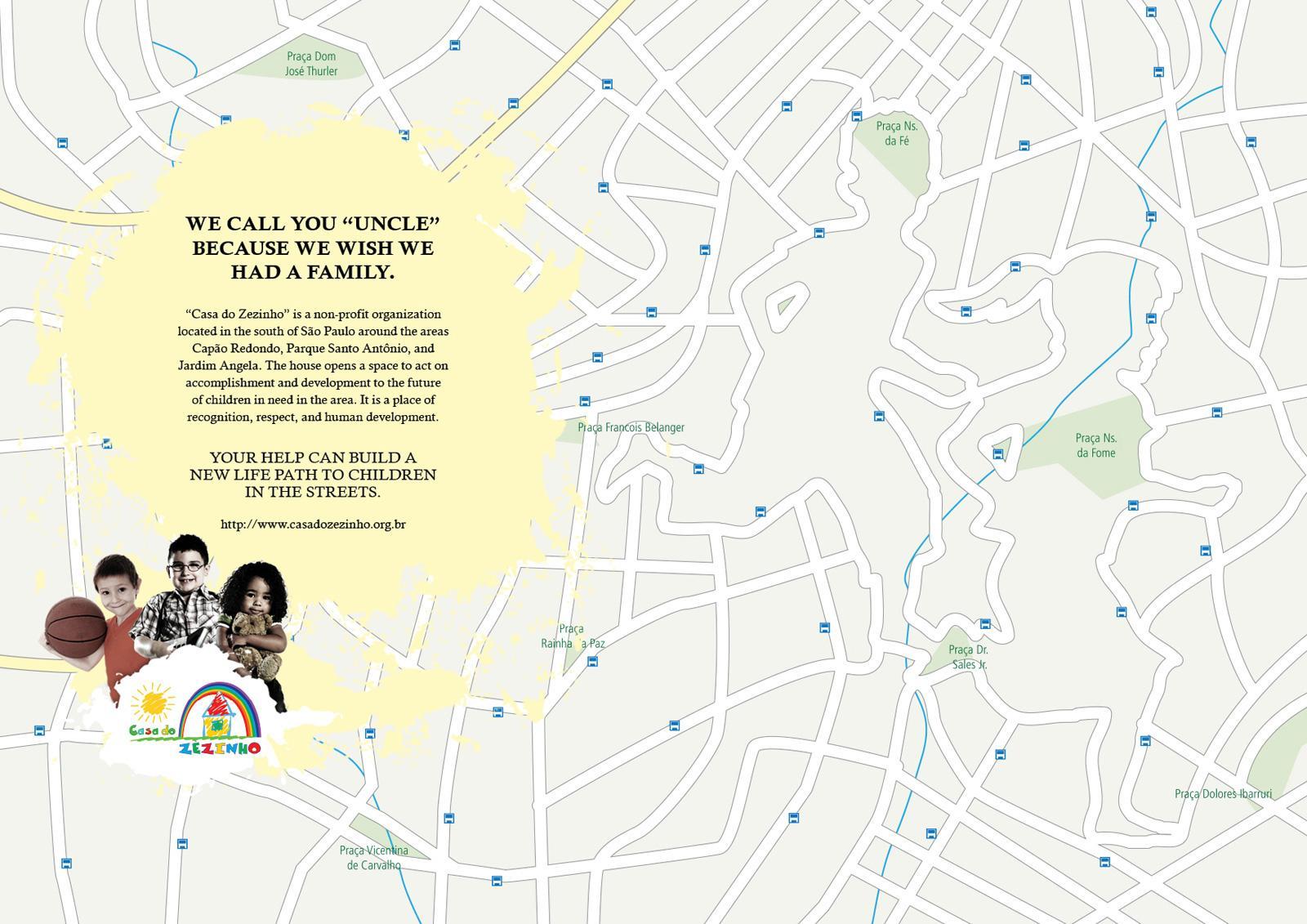 Casa do Zezinho Print Ad -  Maps, uncle