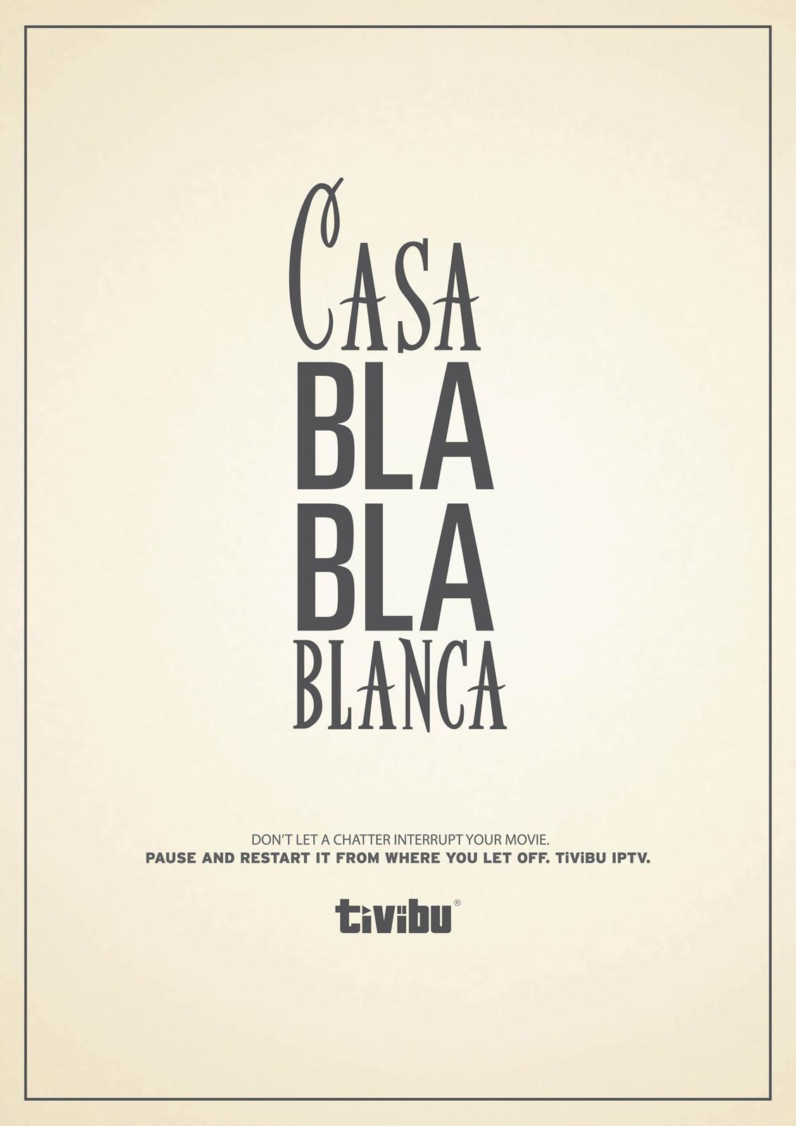 Tivibu Print Ad -  Casablanca