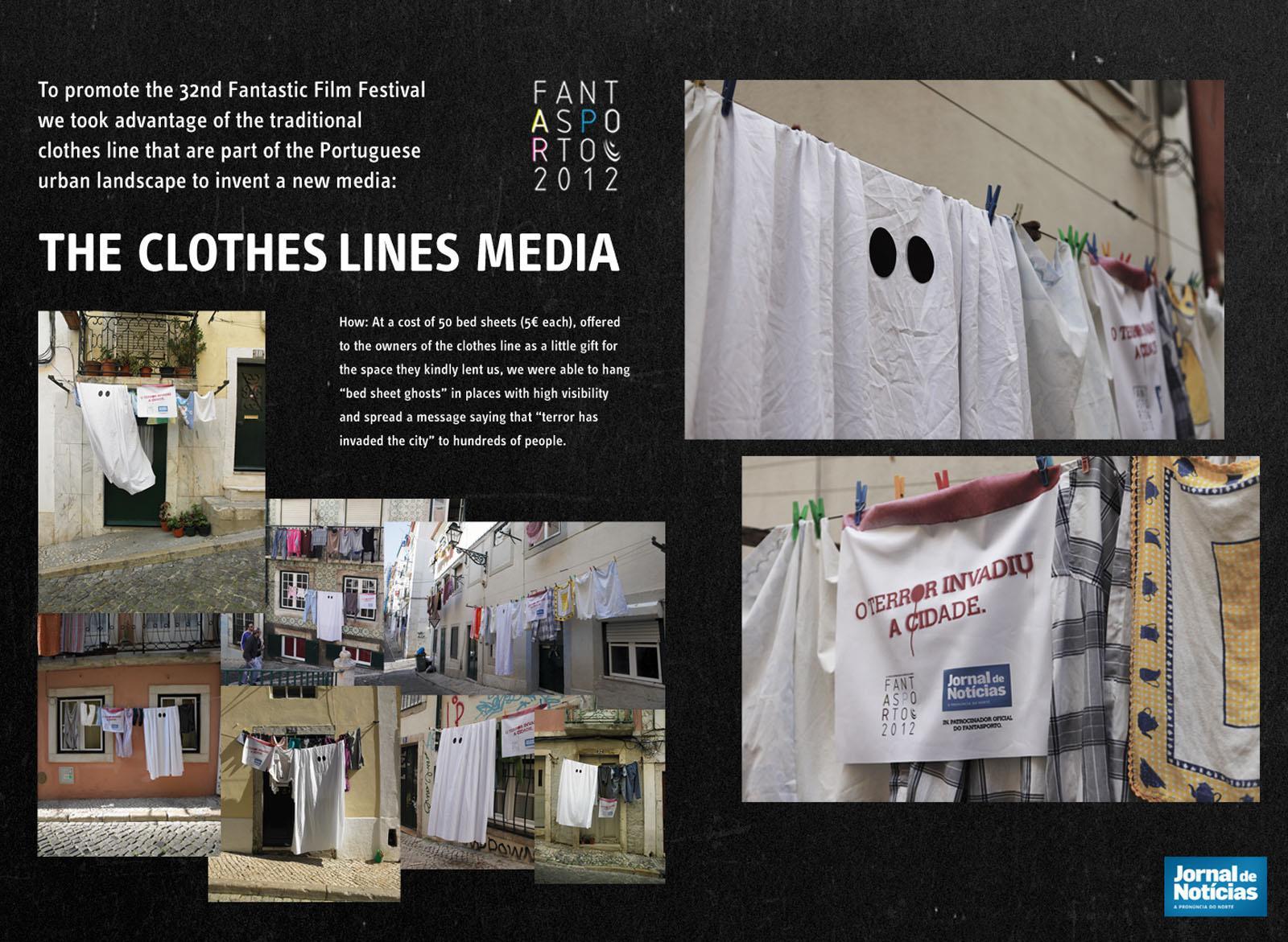 Jornal de Noticias Ambient Ad -  Clothes Lines Media